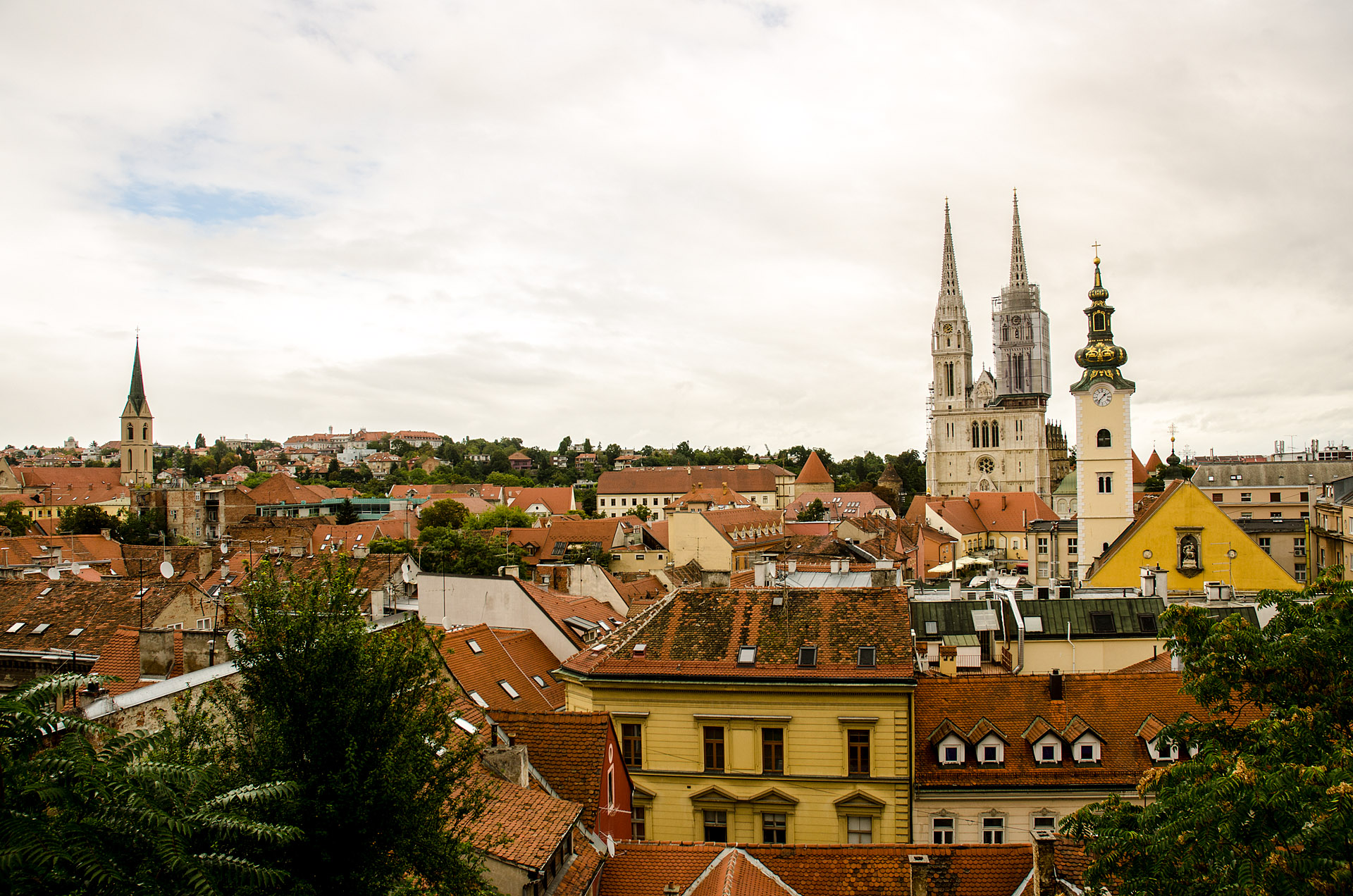View of Zagreb from St. Catherine's