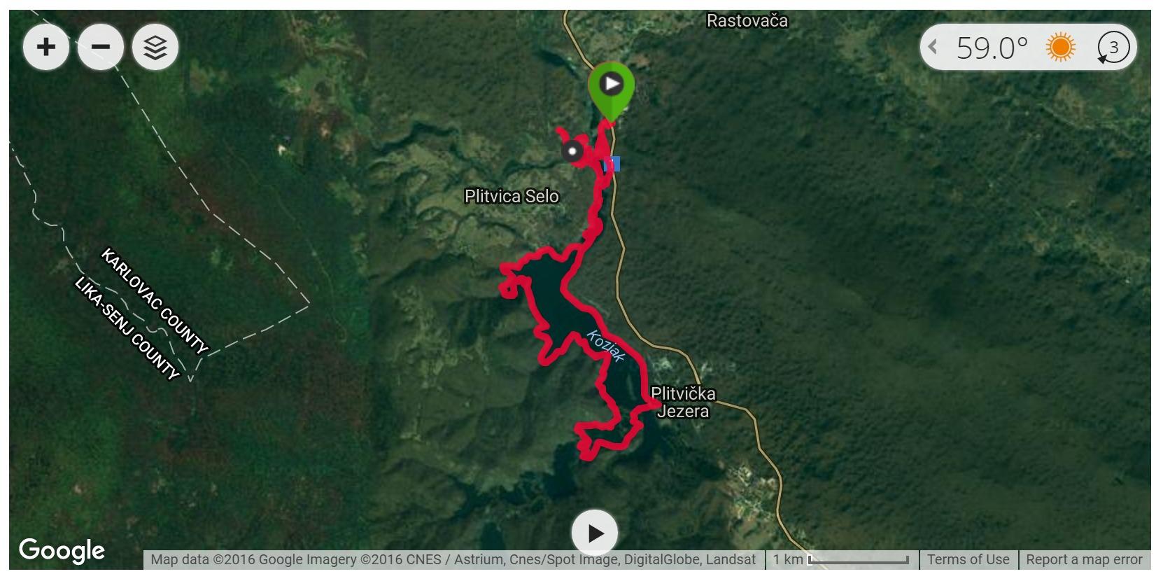 Plitvice Lakes Hike 2 - Satellite