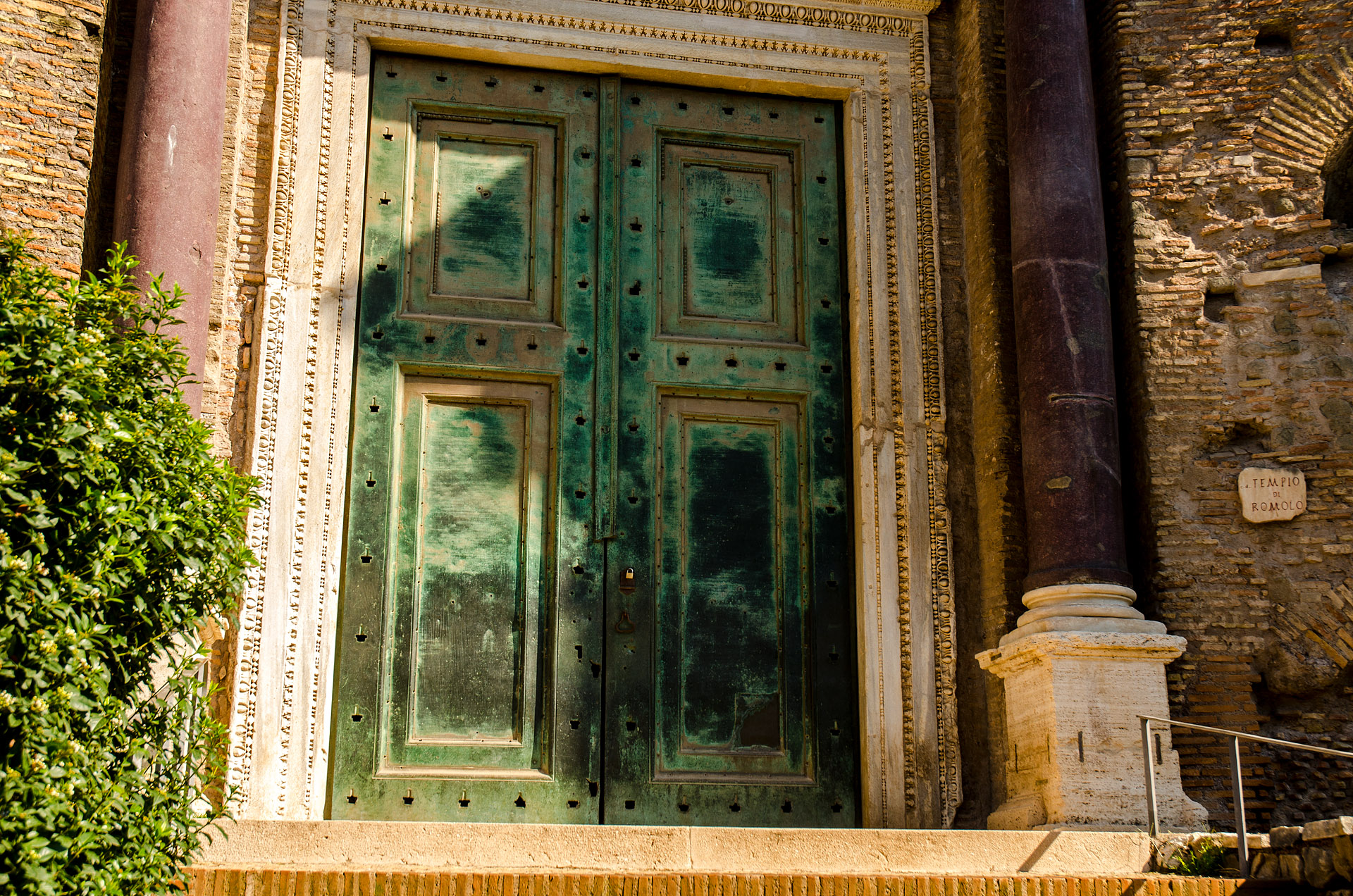 Original bronze doors (Temple of Romulus)