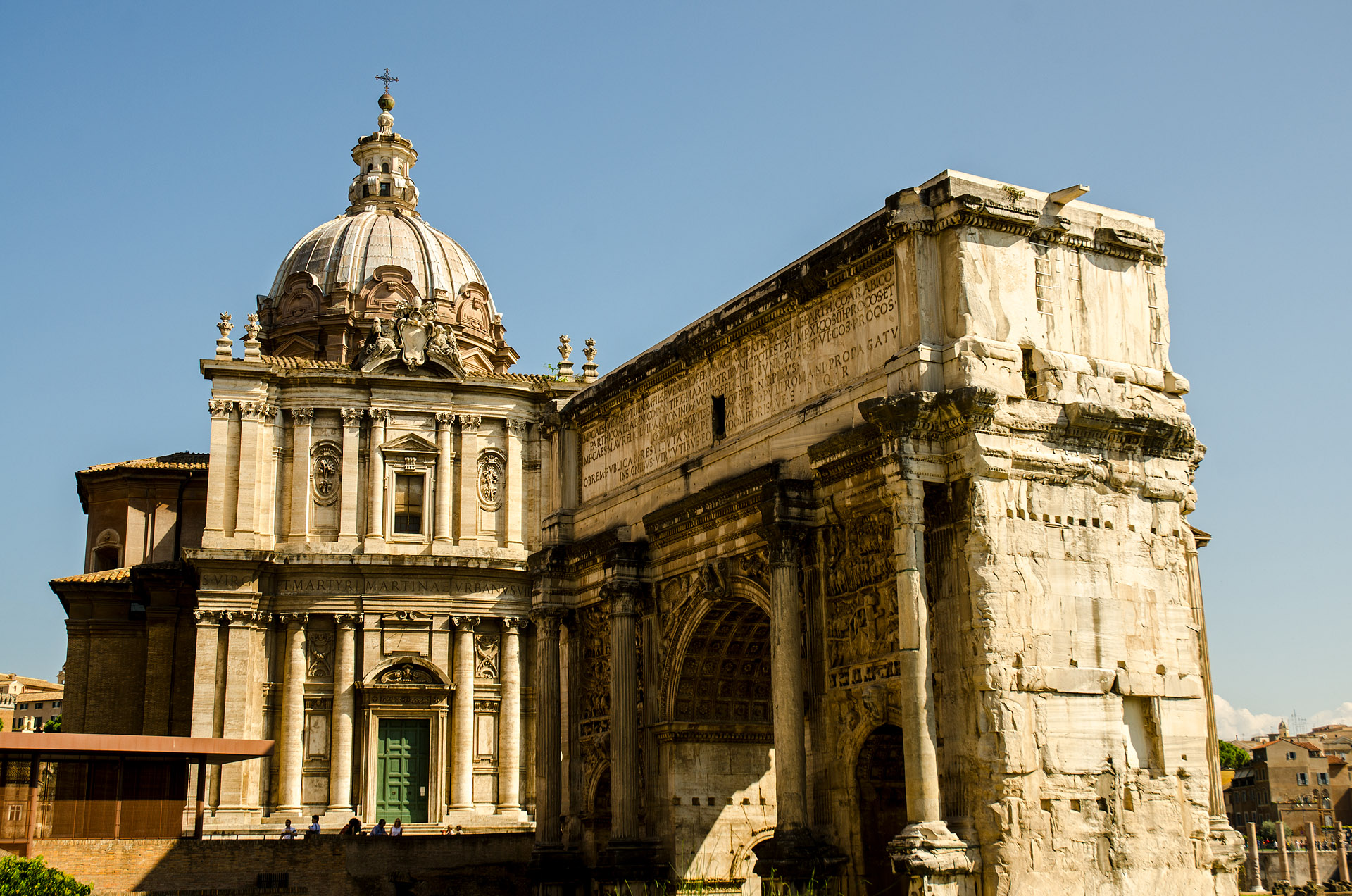 Arch of Septimius Severus & Church of St. Luke and St. Martina
