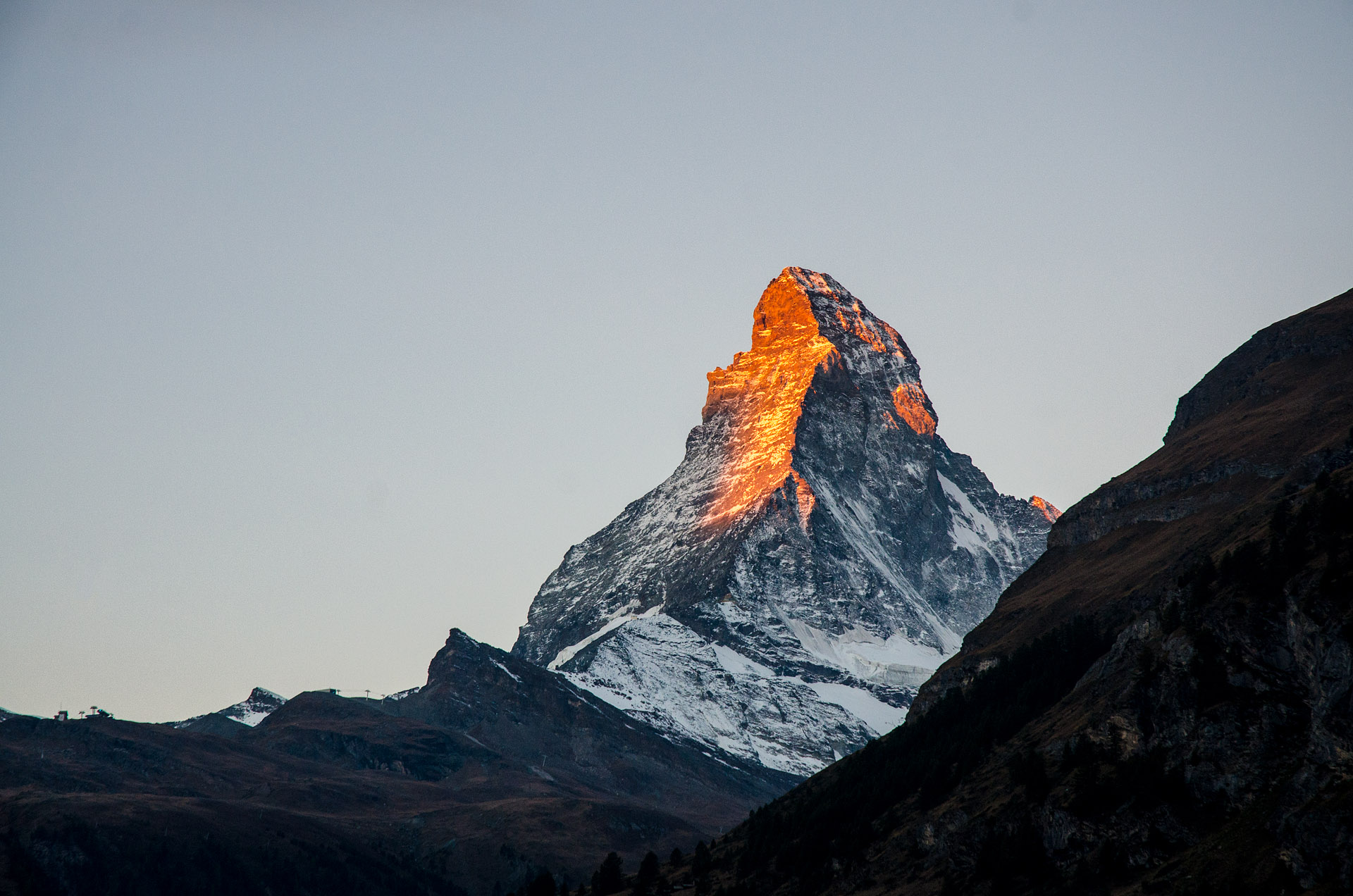 The Matterhorn from our apartment