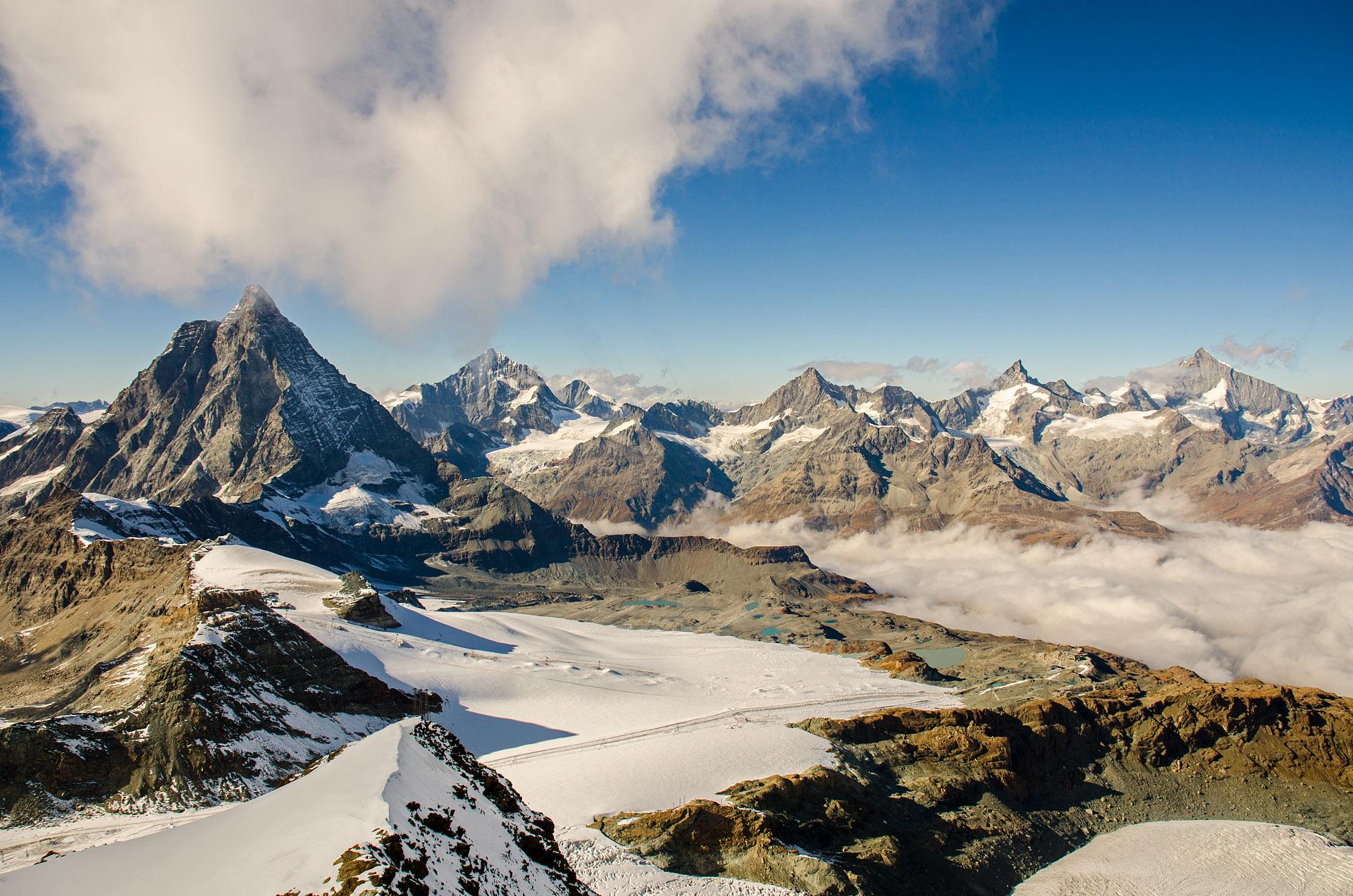 Southern side of the Matterhorn