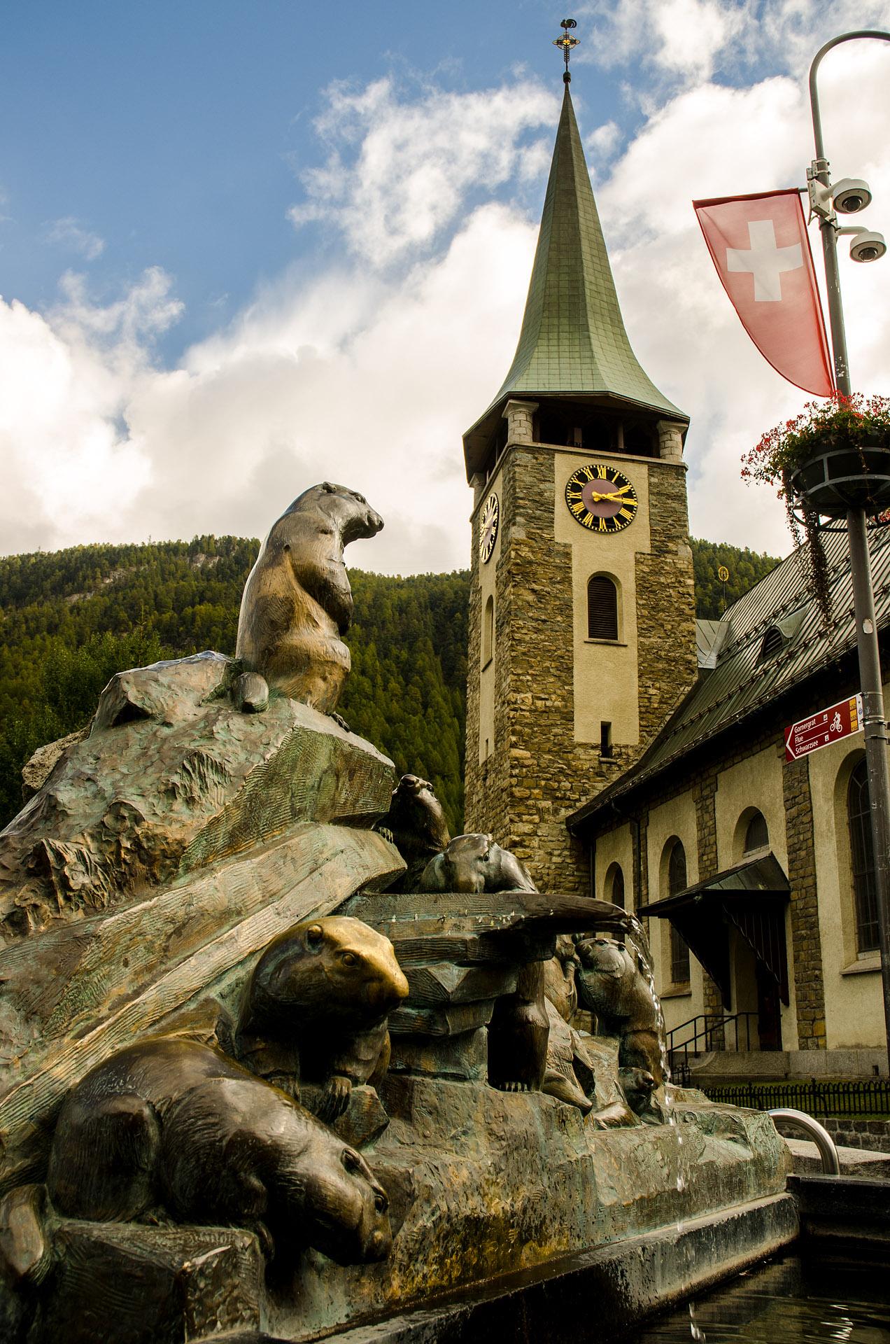 The Marmot Fountain