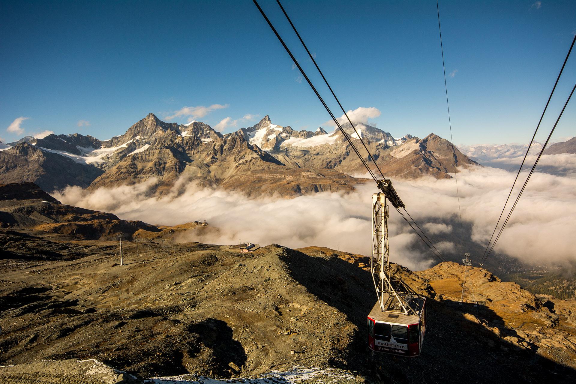 Glacier Paradise lift to Klein Matterhorn summit