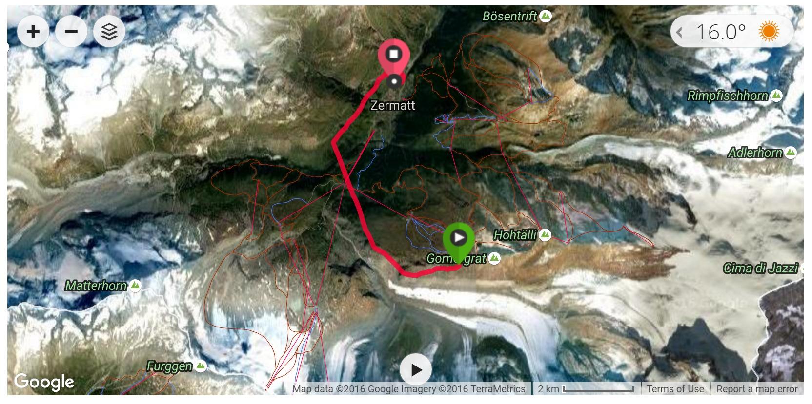 Paragliding (Rotenboden, Zermatt) - Satellite