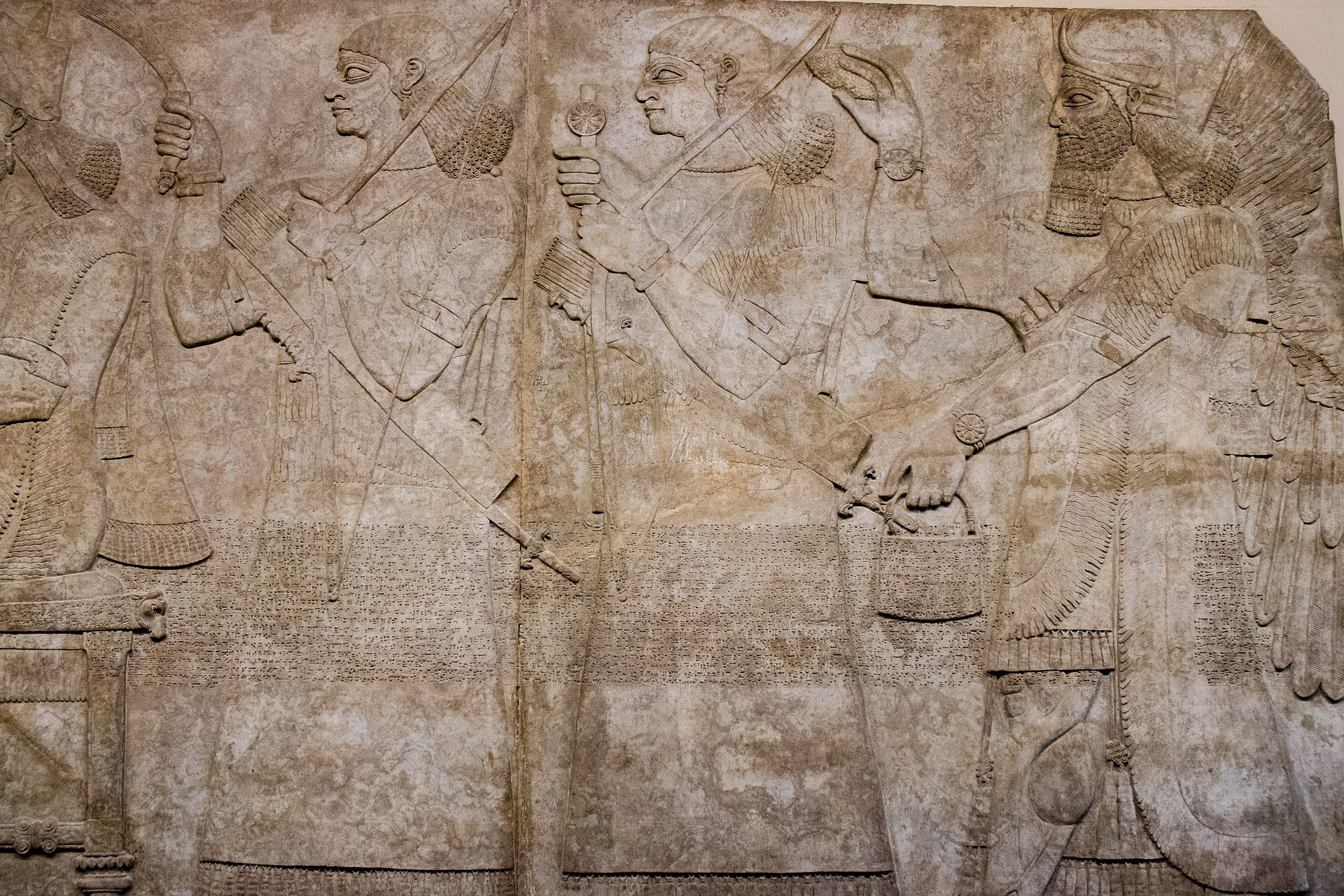 Assyrian reliefs (Palace at Nimrud (Iraq), 883-859 BC)