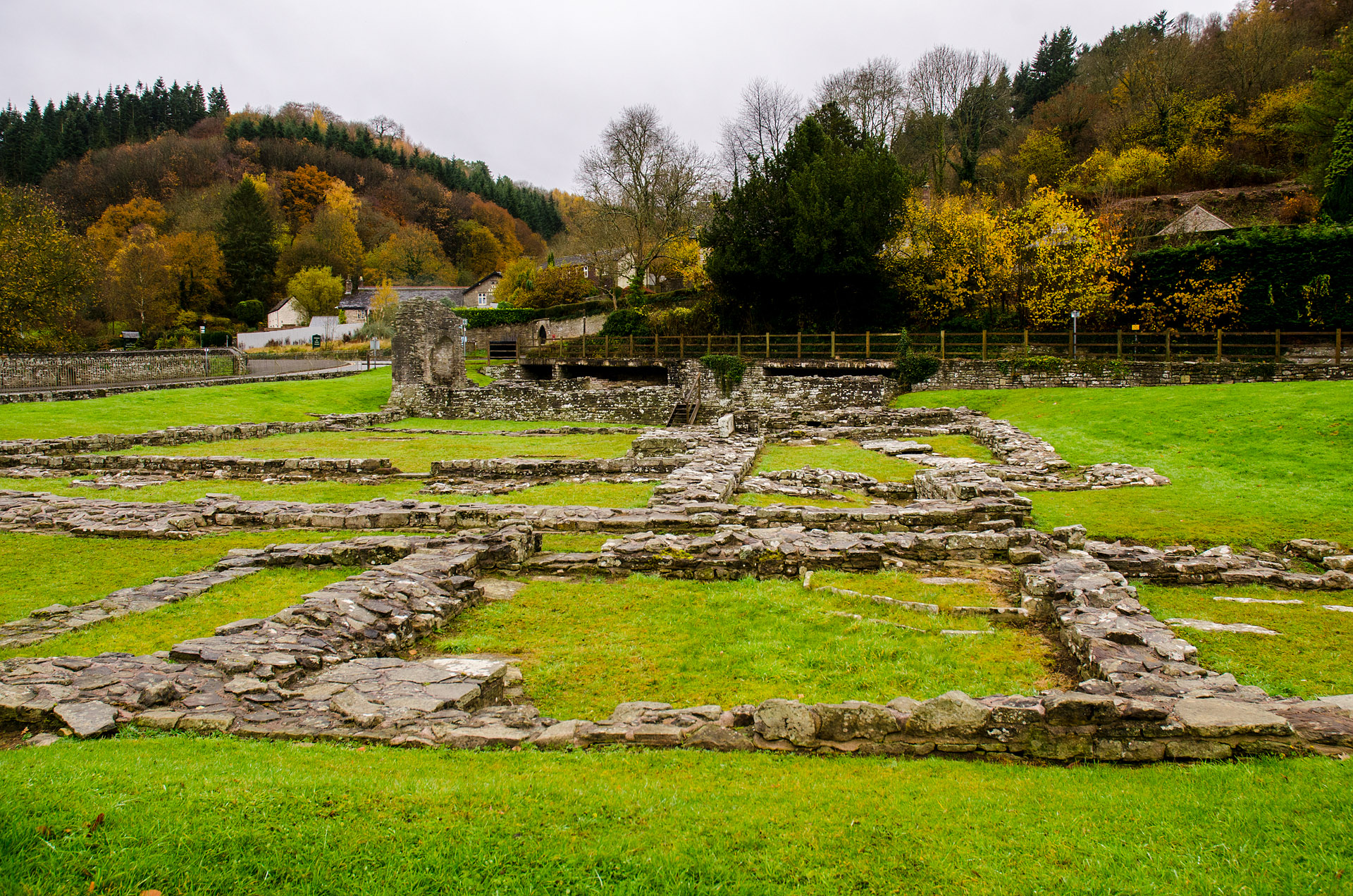 Tintern Abbey - central courtyard ruins