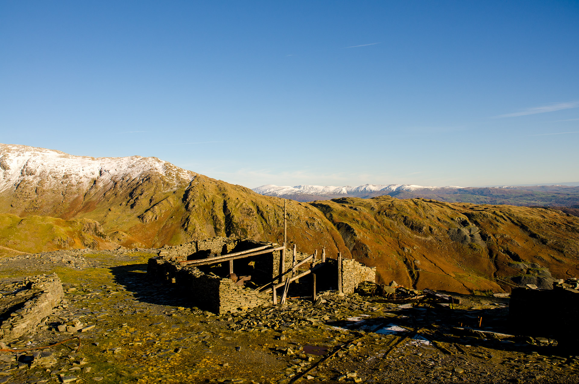 Old copper and slate mines