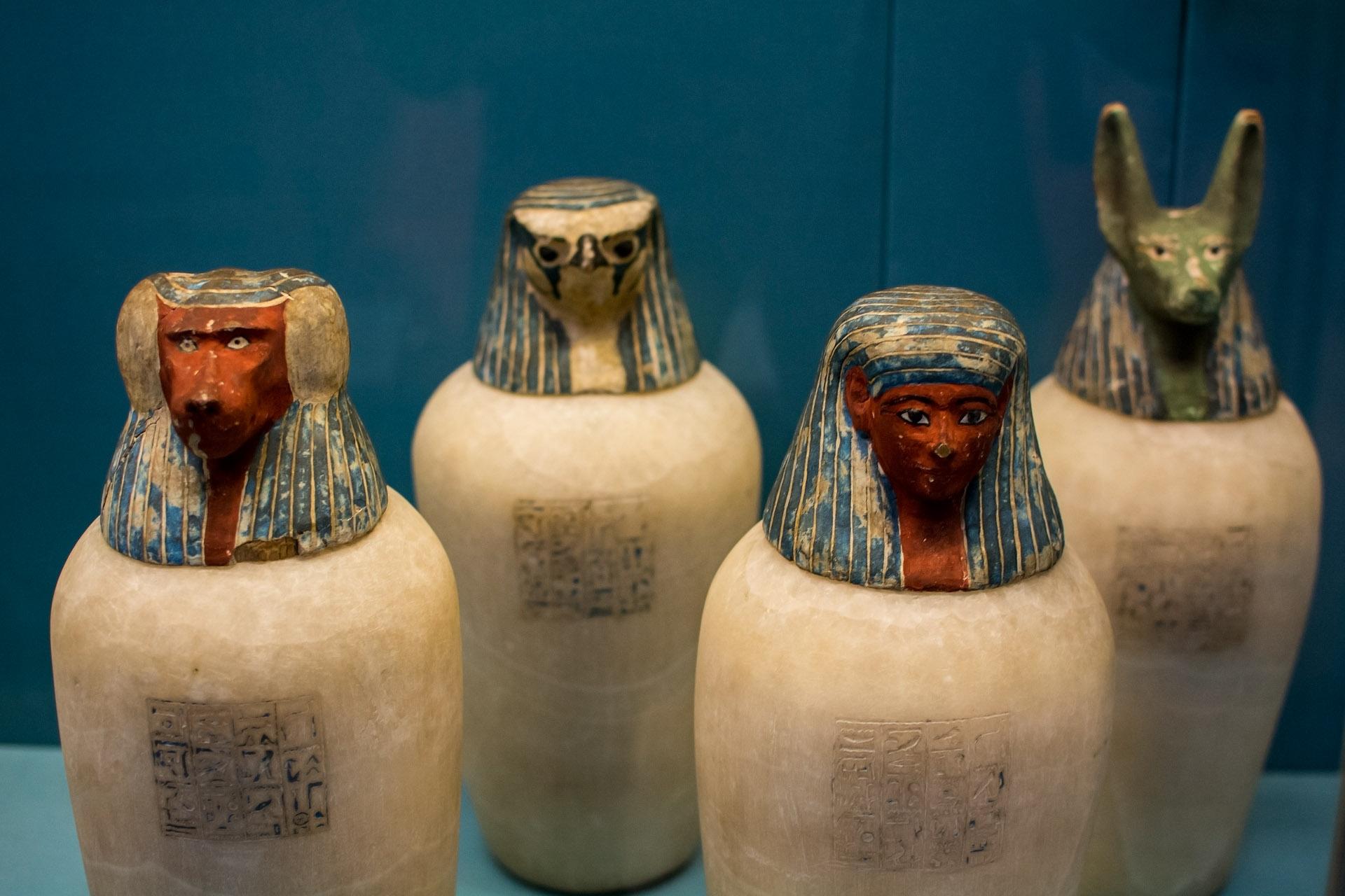 Canopic jars (calcite, 945-1070 BC)