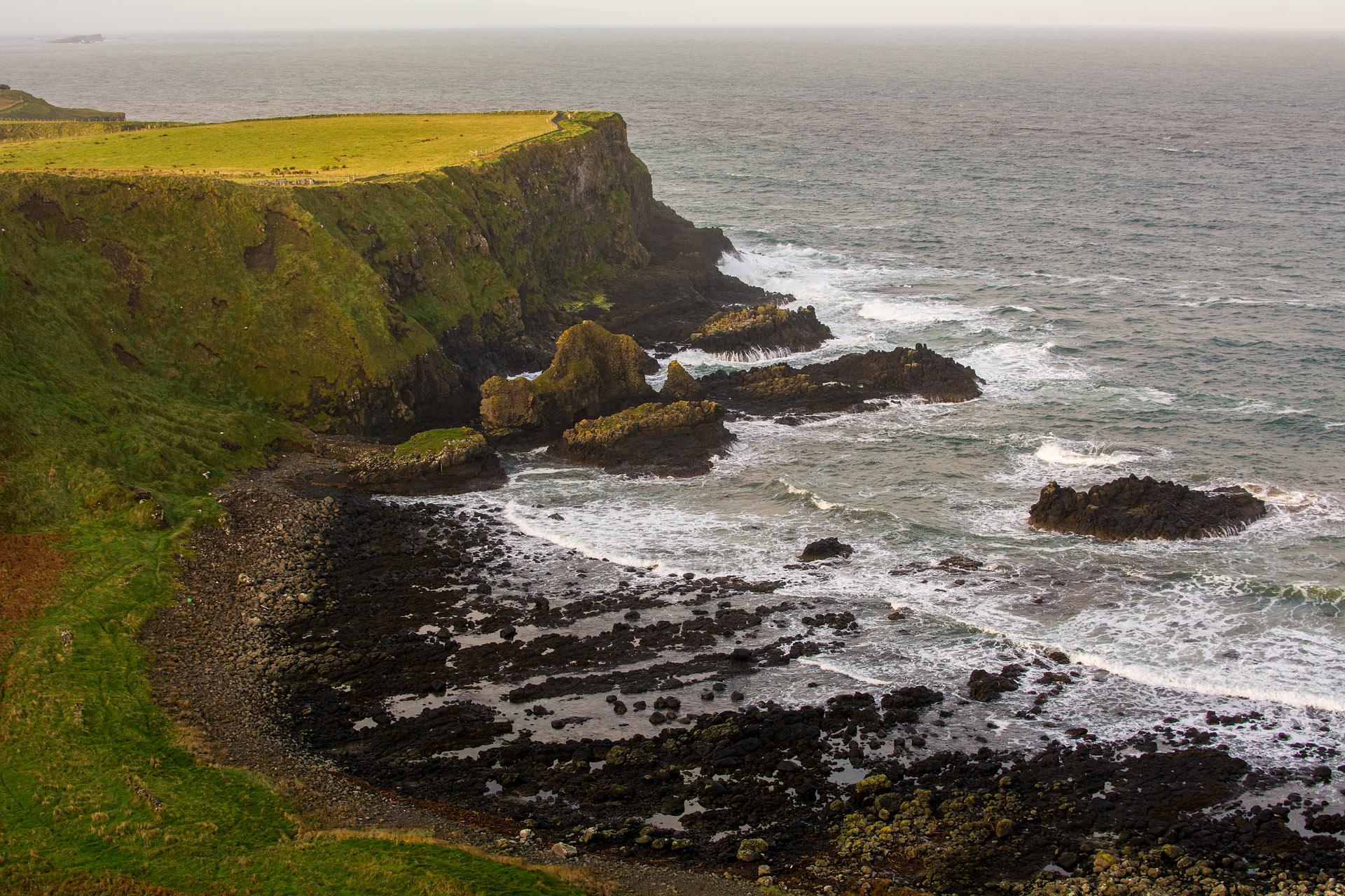 Cliff walk above Giant's Causeway