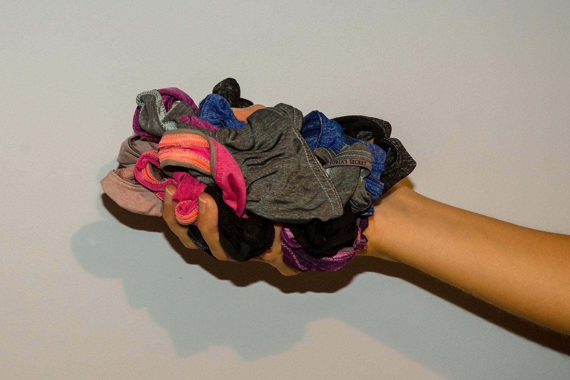 A handful of panties