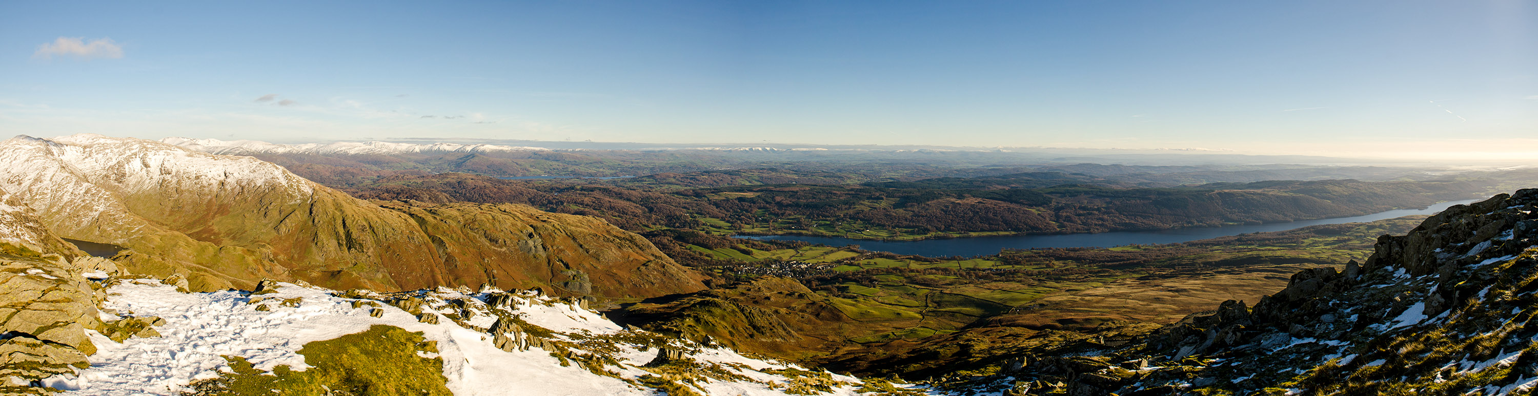 Coniston Water from Old Man of Coniston summit