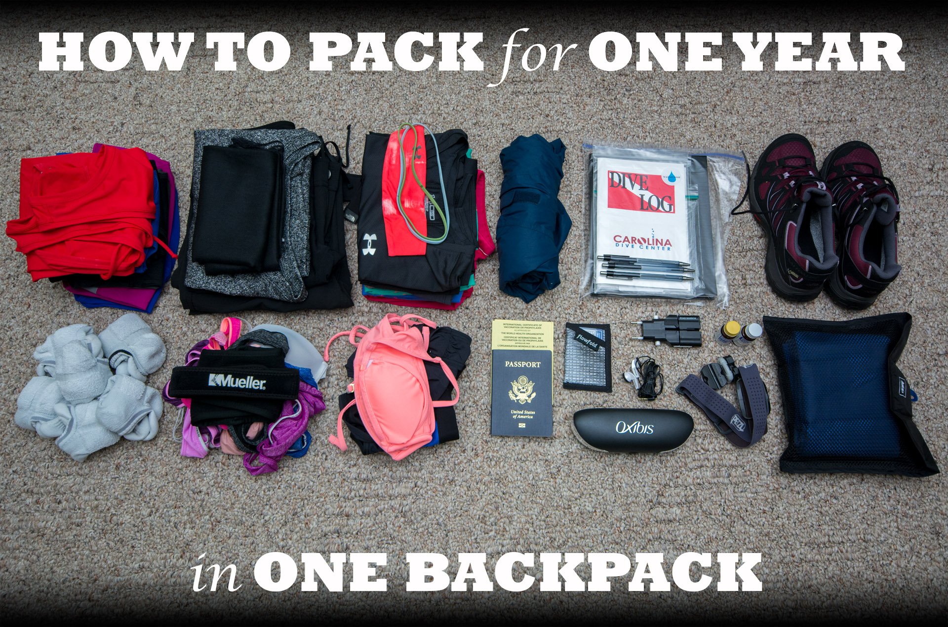 How to Pack for One Year in One Backpack