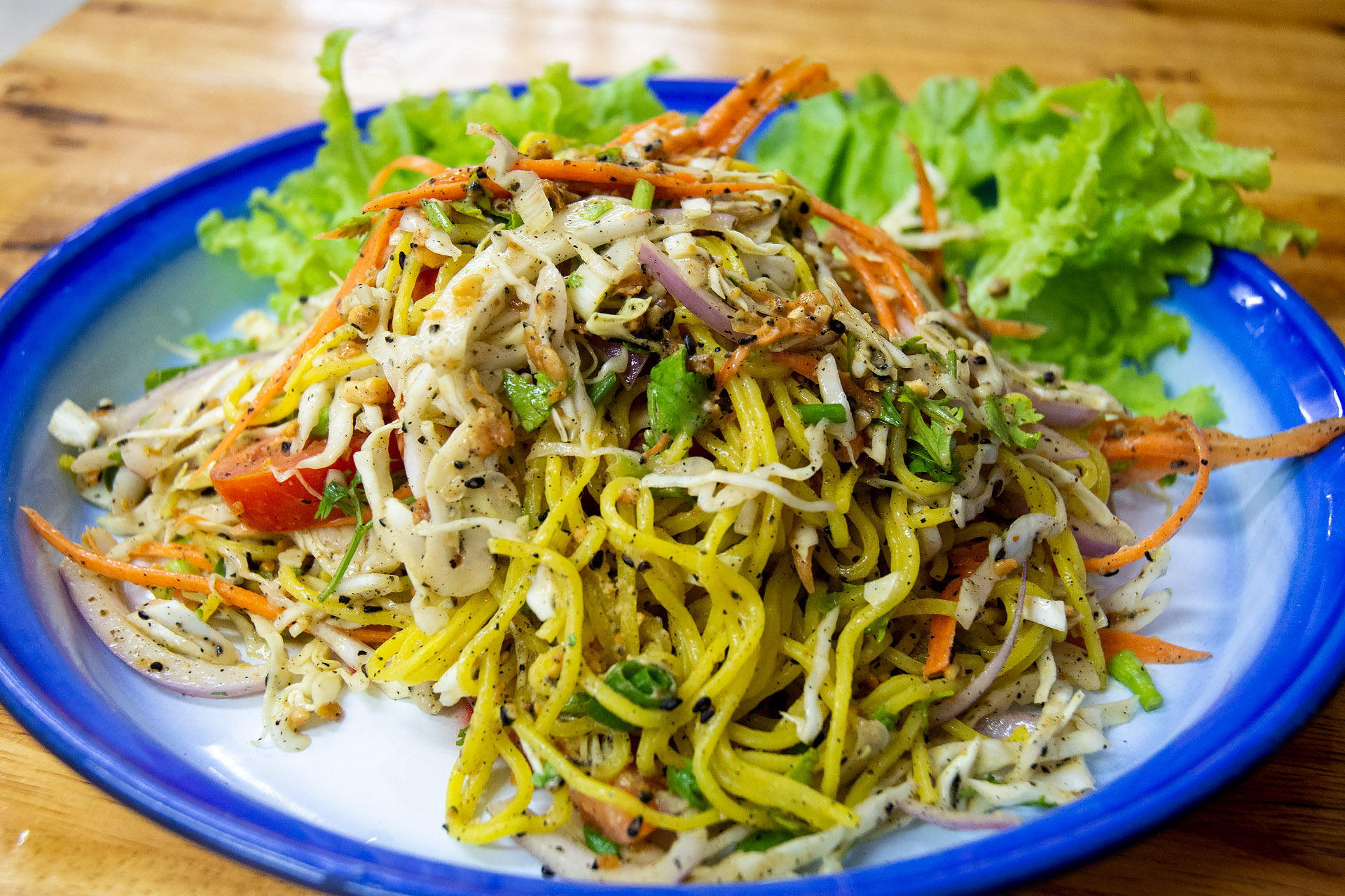 Shan yellow noodle salad