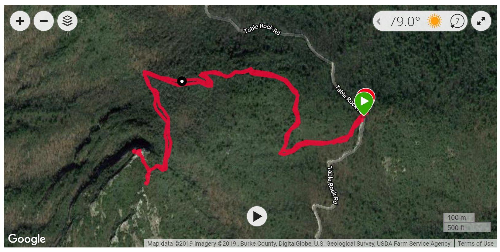 Hawksbill Mountain - Satellite