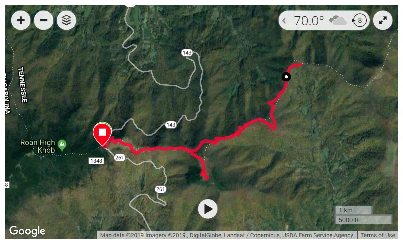 Roan Mountain - Satellite