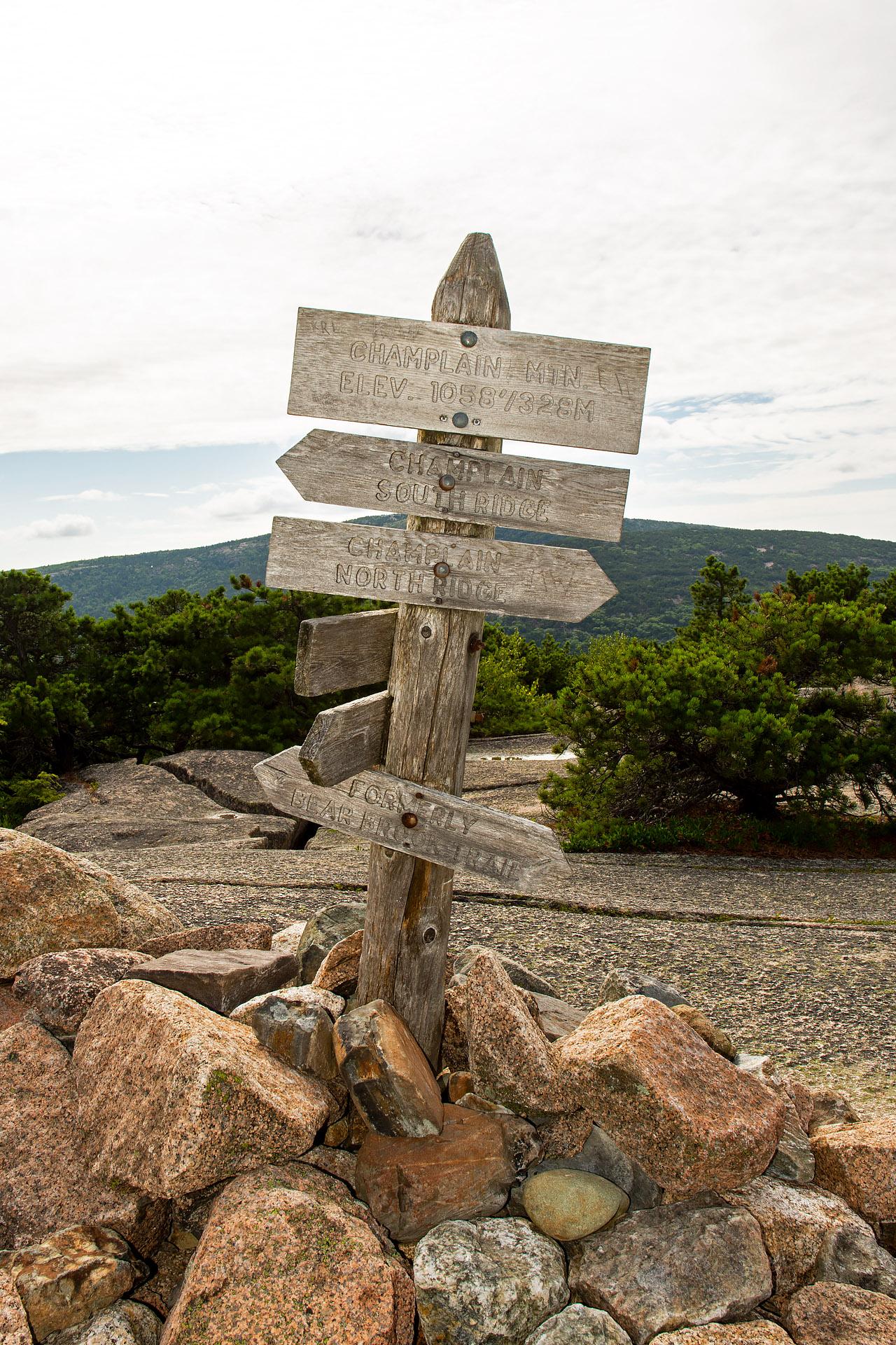 Champlain Mountain summit