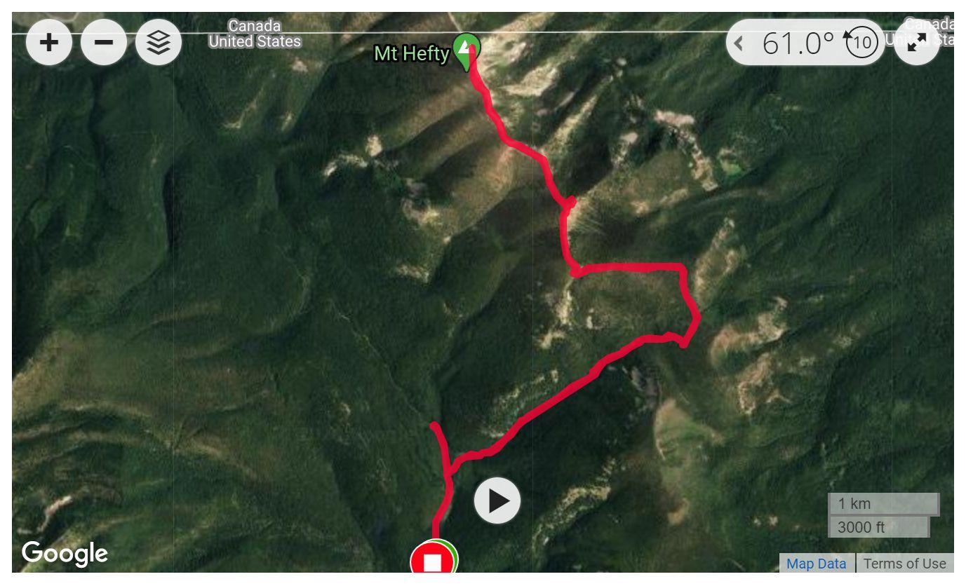 Mt. Hefty - Satellite