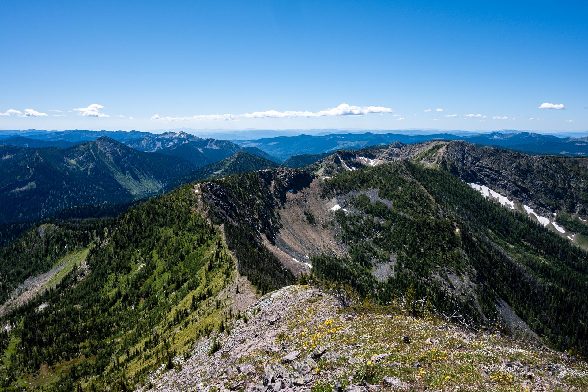 Looking back toward Lake Mountain