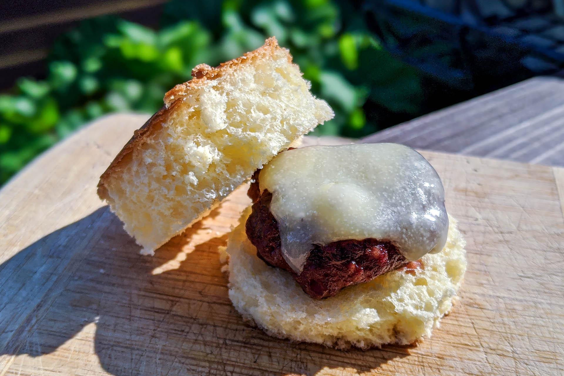 Bison burger on sourdough