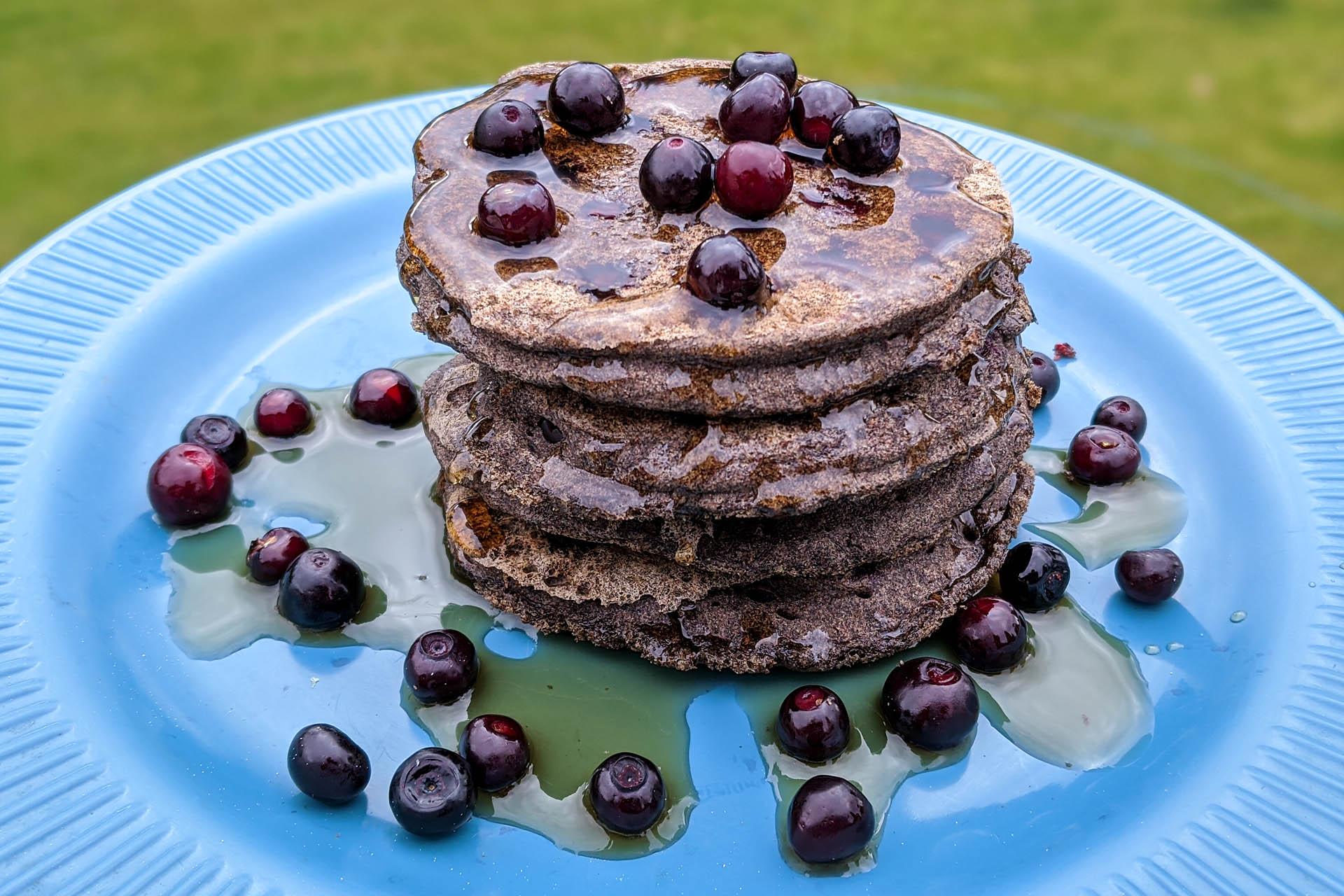 Huckleberry pancakes
