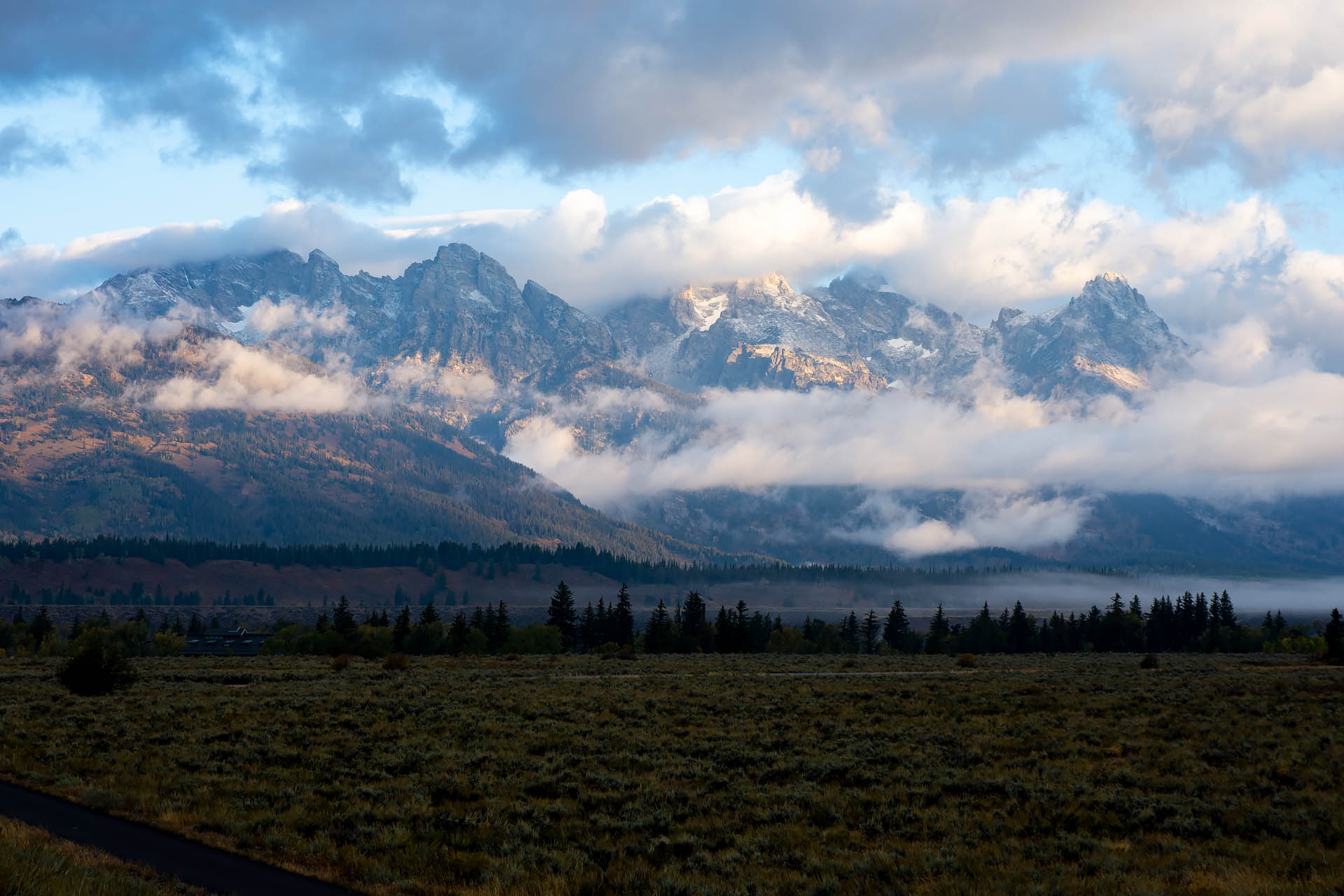 Tetons, early morning