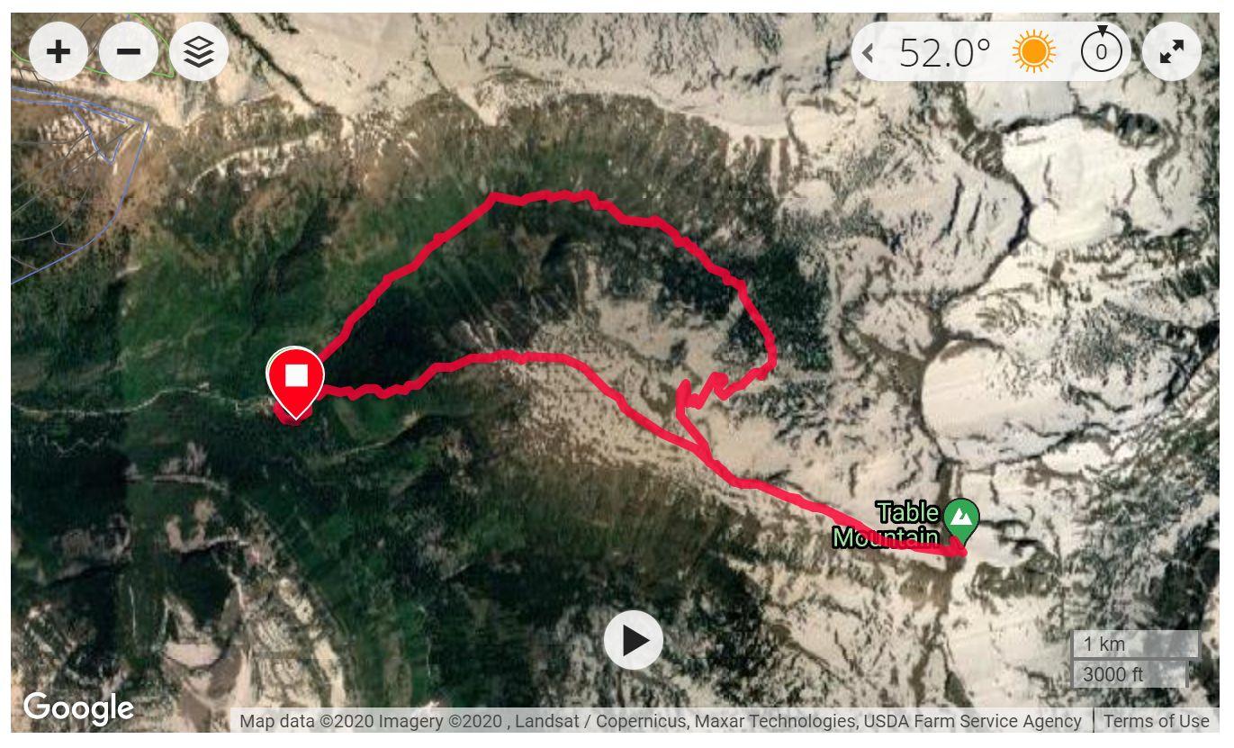Table Mountain, WY - Satellite