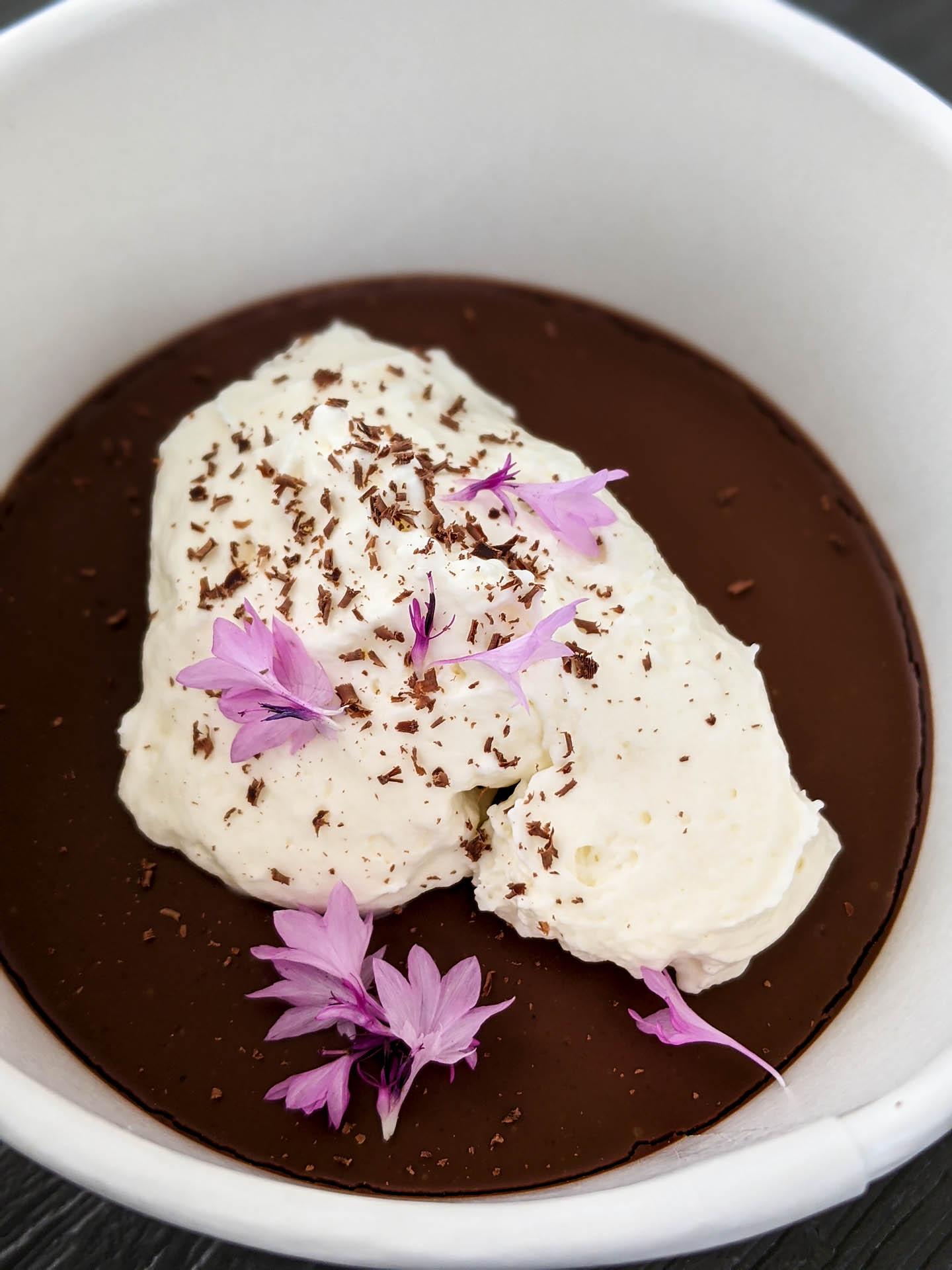 Chocolate chili cream pot