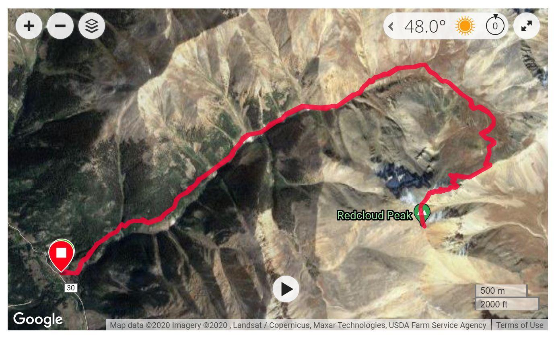 Redcloud Peak - Satellite