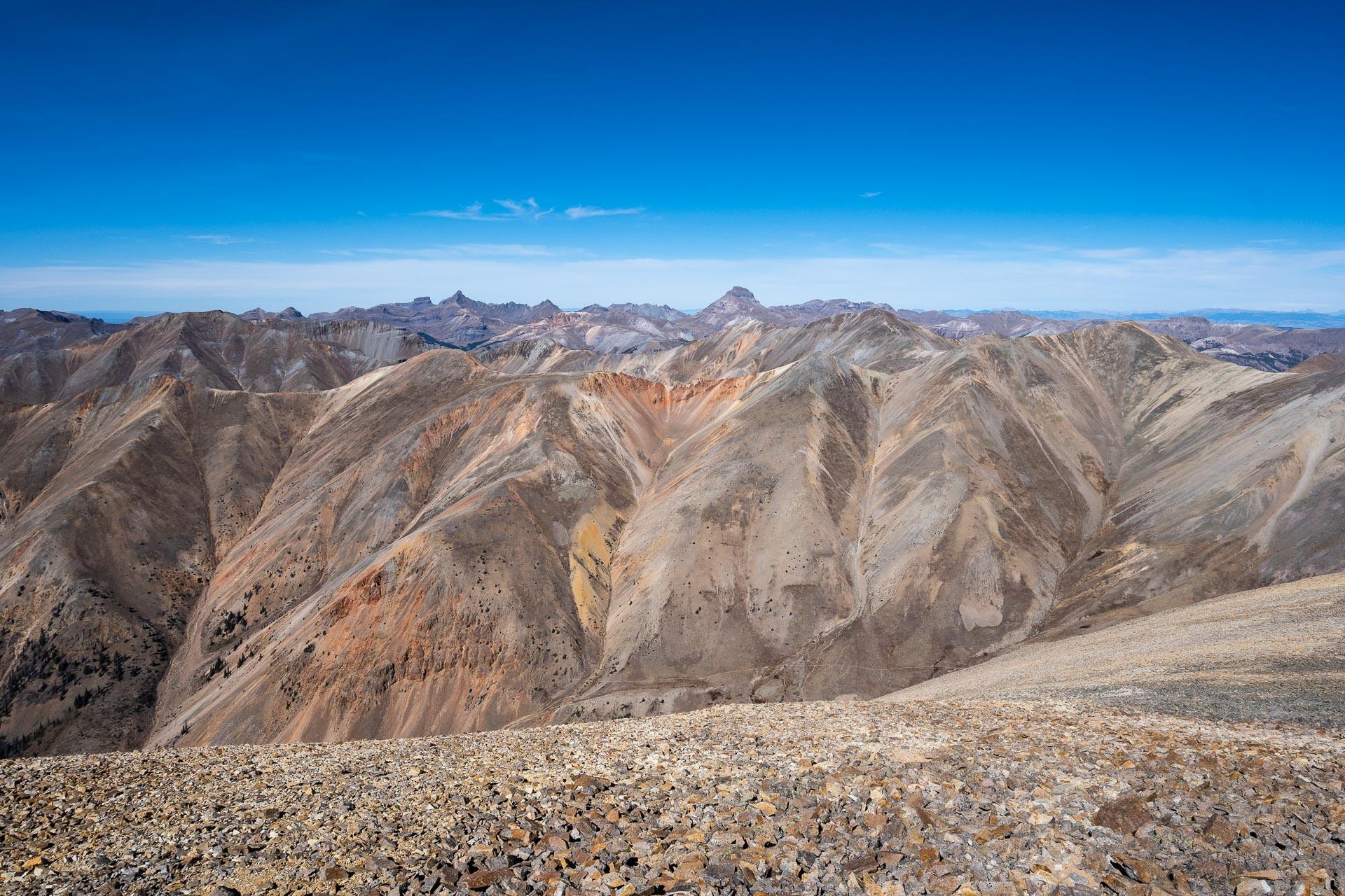 Uncompahgre Peak, 14,321' (center)
