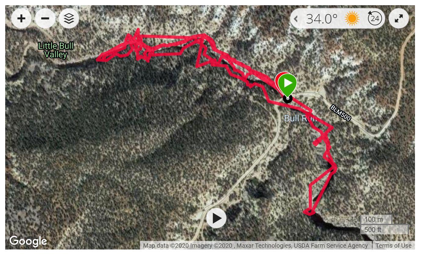 Bull Valley Gorge - Satellite