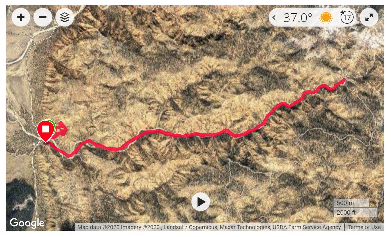 Losee Canyon Trail - Satellite