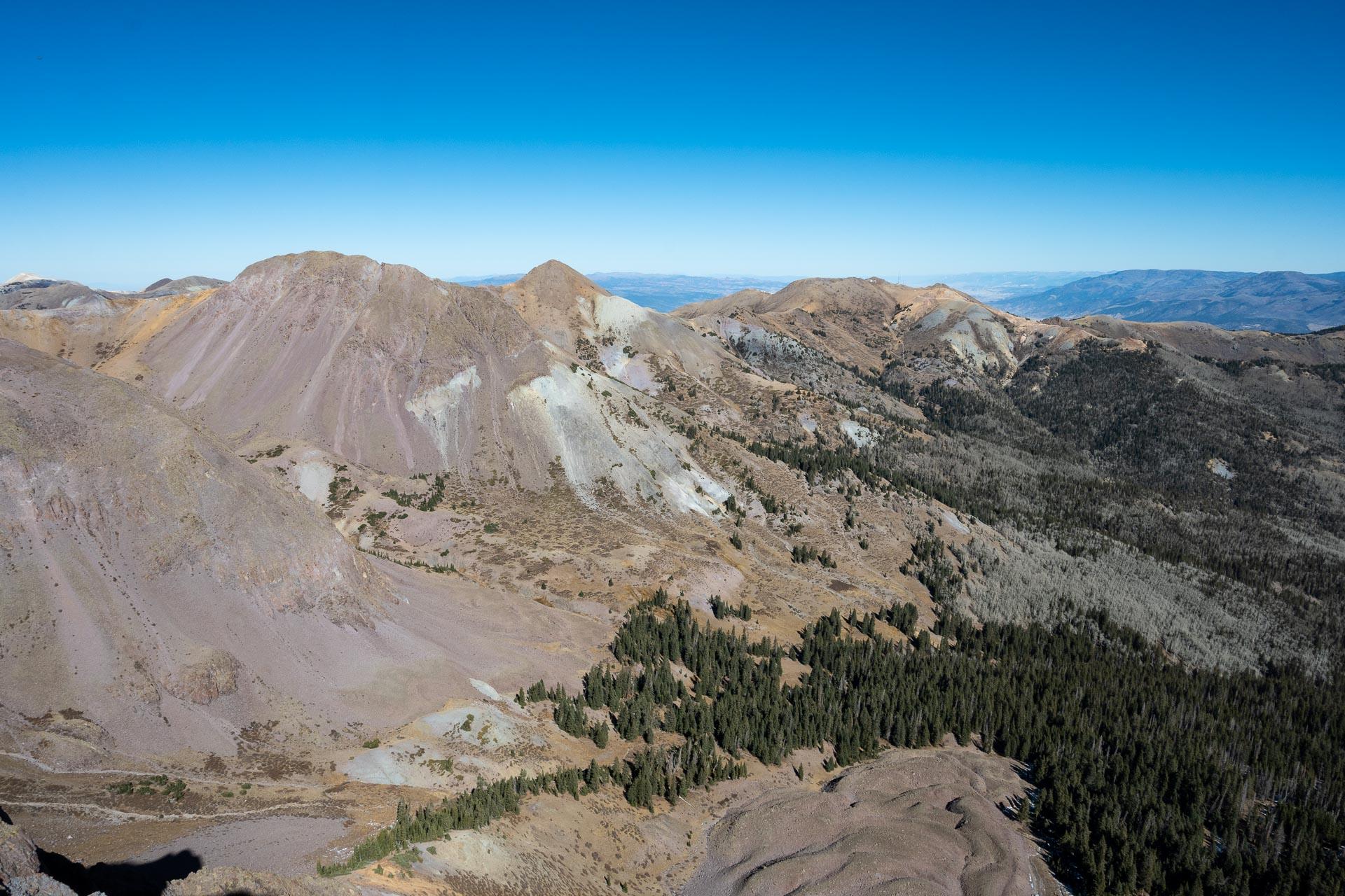 Ridgeline out to Mt. Brigham