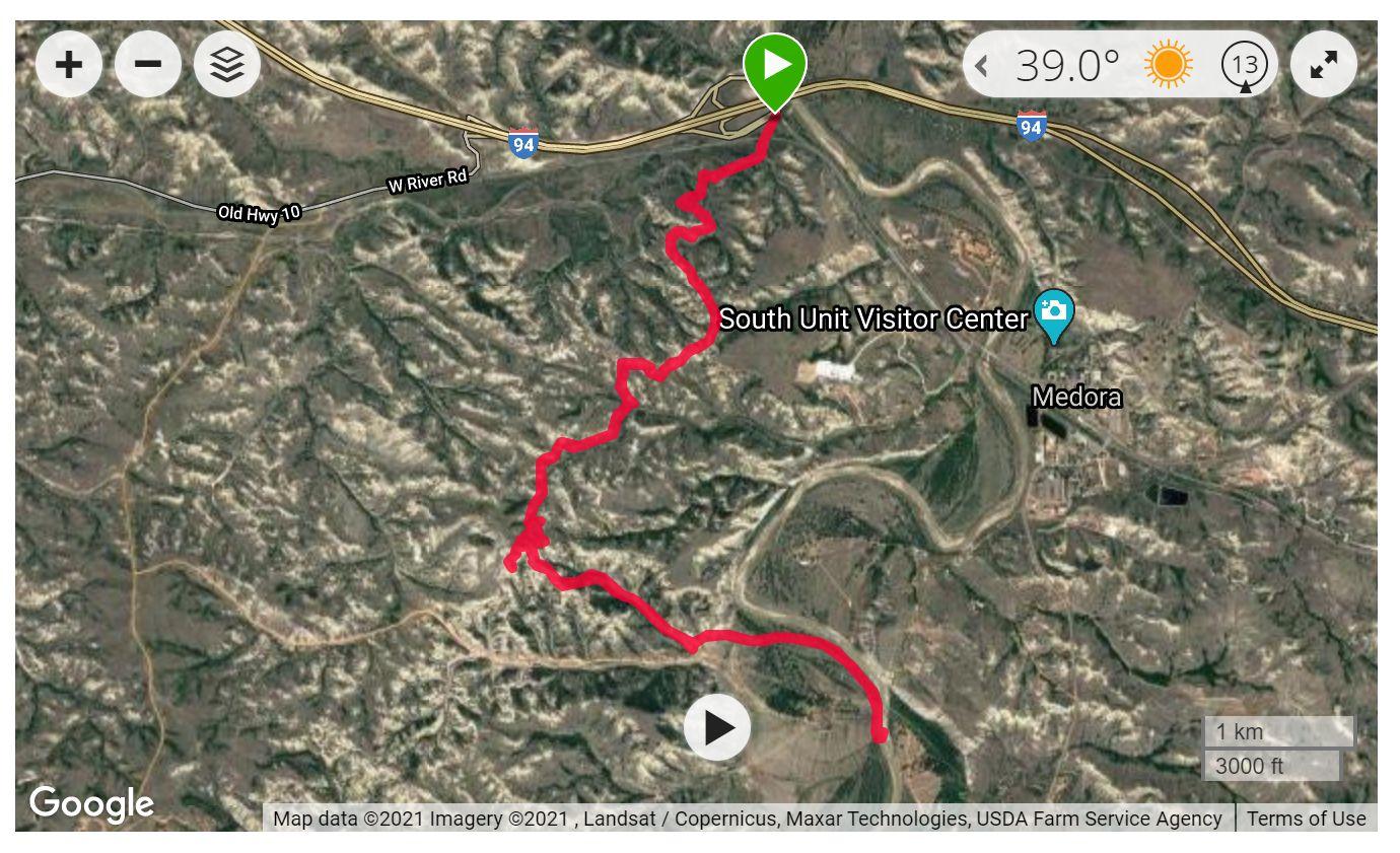 Maah Daah Hey Trail - Satellite