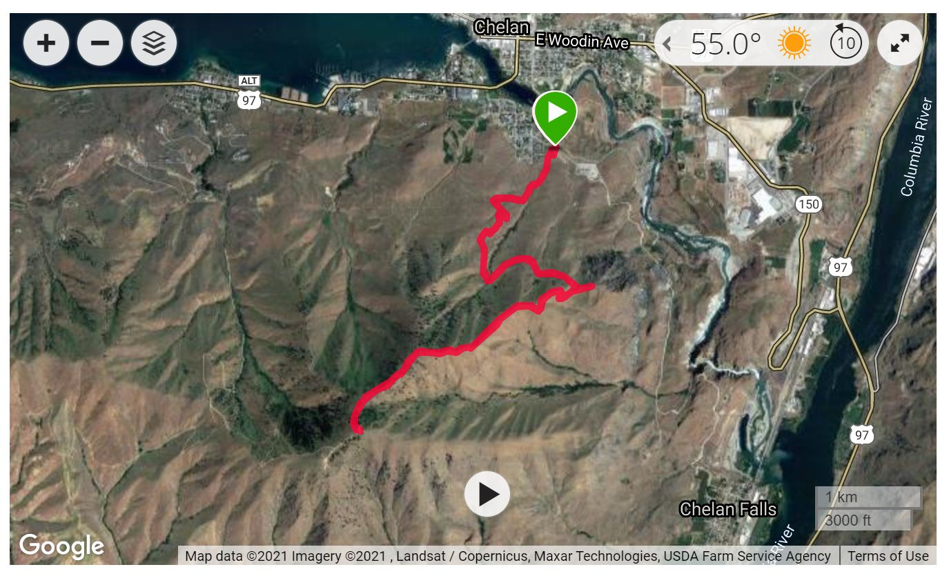 Chelan Butte - Satellite