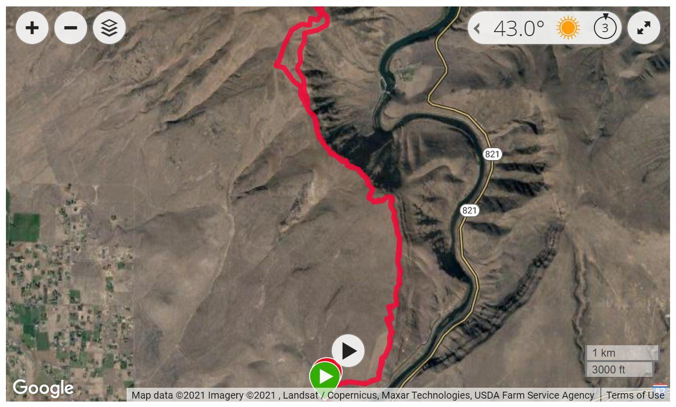Yakima Skyline Trail - Satellite