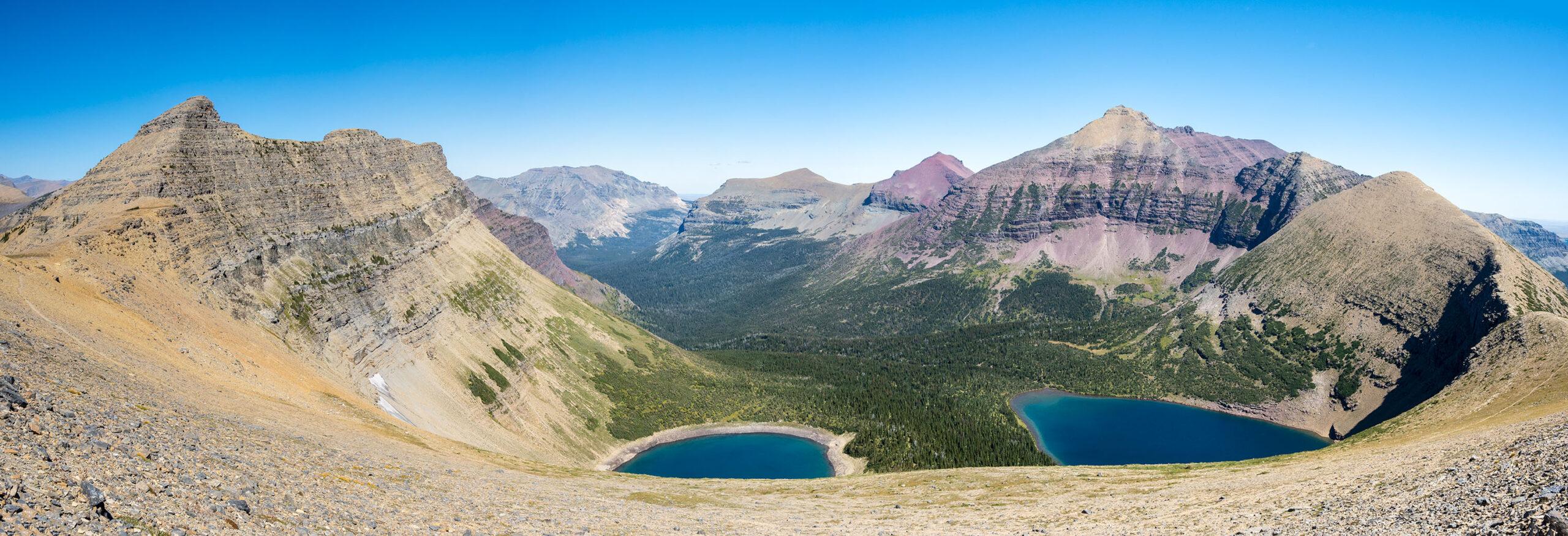 Pitamakan Lake, McClintock & Red Mts.
