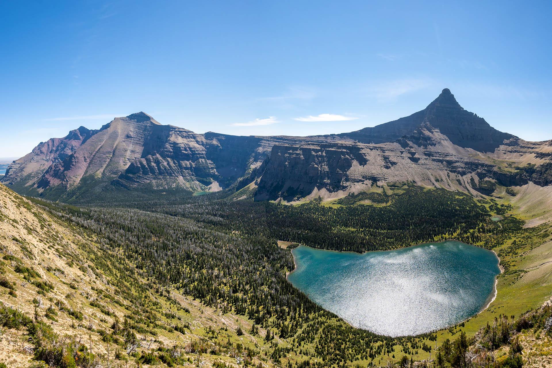 Oldman Lake, Rising Wolf Mountain, Flinsch Peak