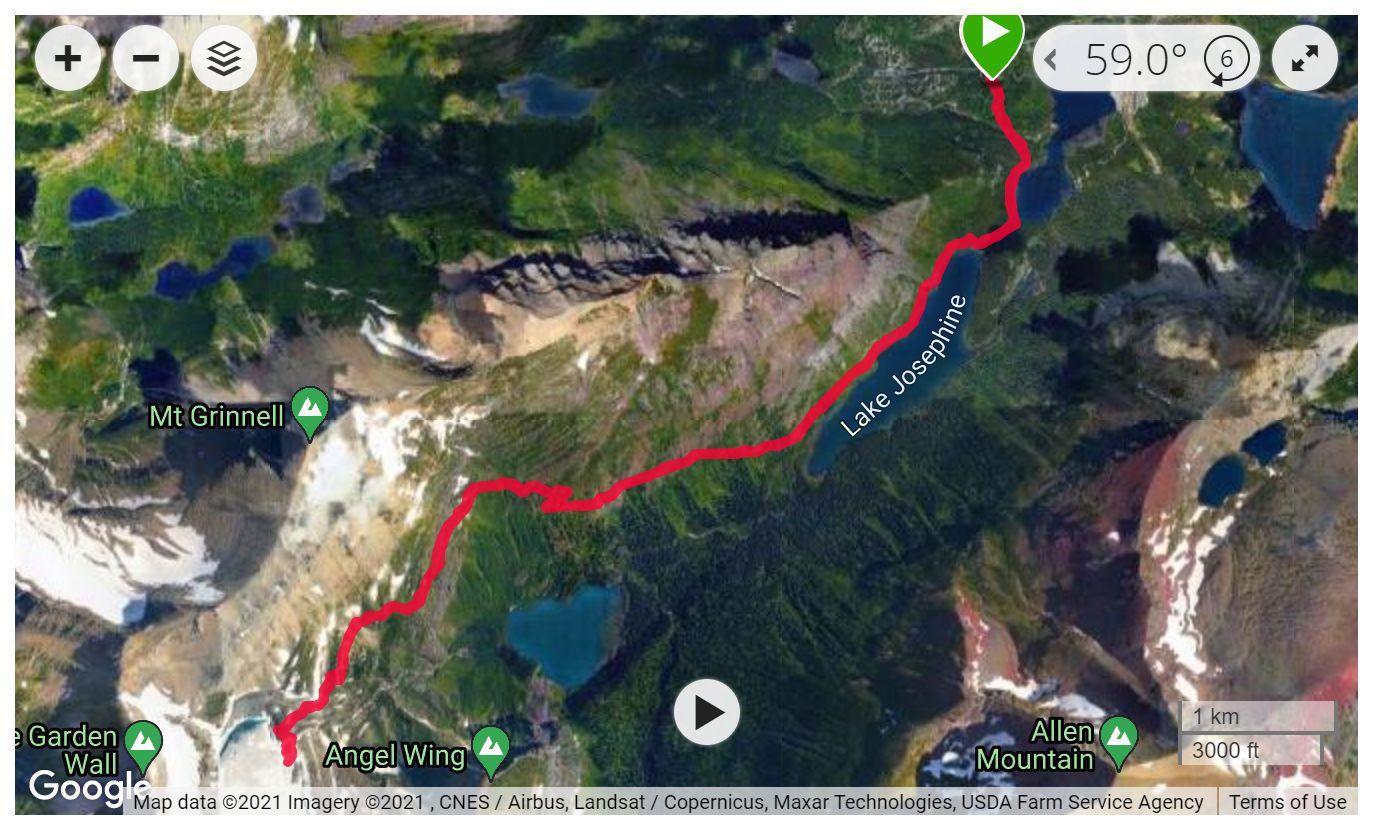 Grinnell Glacier - Satellite