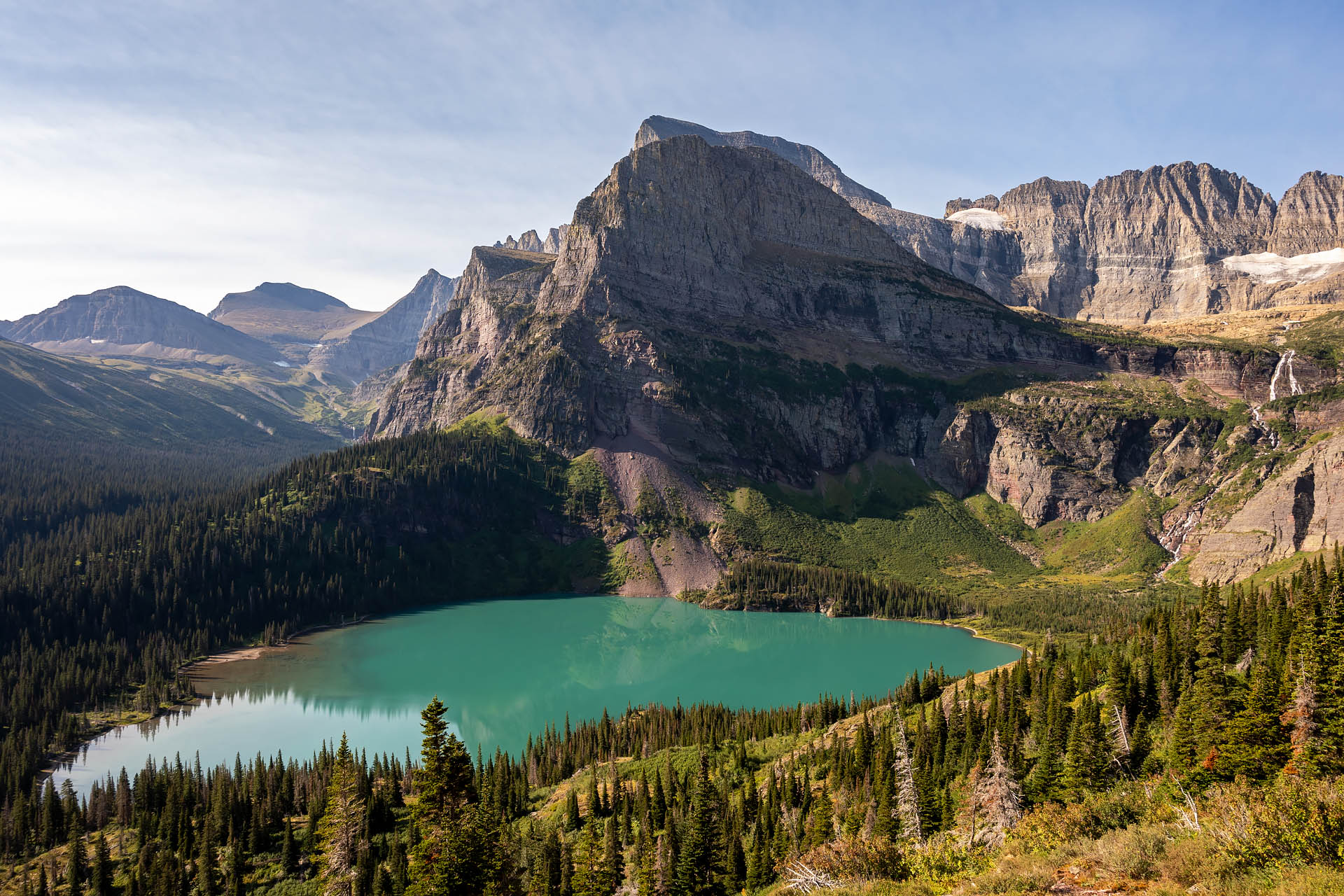 Grinnell Lake, Angel Wing, Grinnell Falls