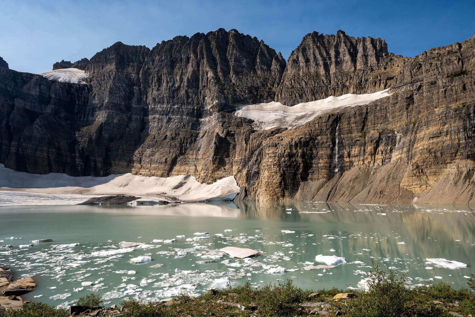 Upper Grinnell Lake, Salamander Falls, Salamander Glacier